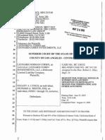 Leonard Cohen Request for Judicial Notice & January 2014 Hearing Transcript