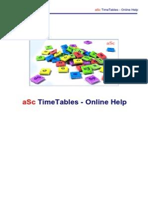 Asc Timetables en P2 | Classroom | Physical Education