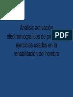 Análisis Activación Electromiograficos de Ejercicios Hombro