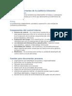 Conceptos Importantes de La Auditoría