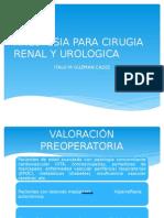 Anestesia Para Cirugia Renal y Urologica