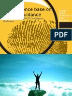 The Evidence Base on Lifelong Guidance