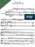 Cello, Violonchelo, partitura para concierto Op.85