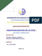 Proyecto de industrializacion de la Soya
