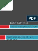 14 Cost Control
