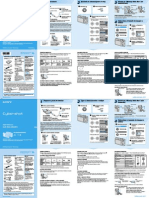 Manual Camara Cybershot