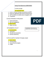 Ophthalmology Final PYQs