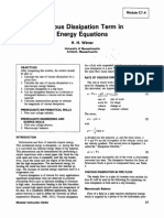 Viscous Dissipation Term in Energy Equations