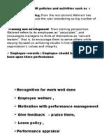 Prajakta Walmart Final Ppt HR Policies