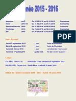 Vacances 2015-2016