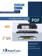 LTRT-33420 Connecting PAETEC SIP Trunking Service to Microsoft Lync via Mediant 800, 1000 and 3000 E-SBC Gateways Configuration Note
