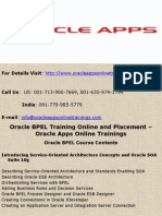 Oracle BPEL Online Training and Placement - Oracle Apps Online Trainings