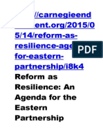 An Agenda for the Eastern Partnership
