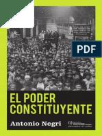 Antonio Negri-El Poder Constituyente