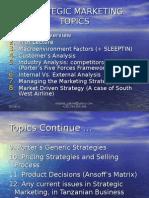 Combined Topics - Strategic Marketing & Management