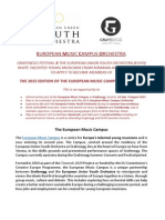 European Music Campus Orchestra 2015 - Invitation Romania