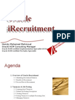 Oracle IRecruitment- By