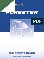 2000 Subaru Forester Owners Manual.pdf
