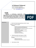 Saad Mohamed Oracle Financial Cv