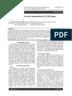 Communication Protocols Augmentation in VLSI Design Applications