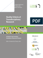 2005 - Quality Criteria of Transdisciplinary Research
