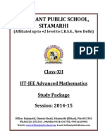 XII Mathematics IIT JEE Advanced Study Package 2014 15
