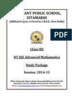 XII Mathematics IIT JEE Advanced Study Package 2014 15