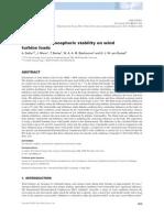 Influence Atmospheric Stability on Wind Turbine Loads 2013