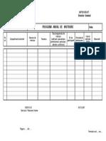 Formular Program Anual de Instruire