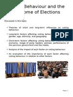 voting behaviour boolet 2014
