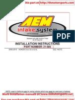 AEM CAI_HONDA Civic SI L4-2.0L_-21-685_inst