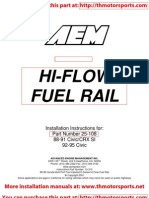 AEM Hi-Flow Fuel Rail_Installation Instructions 25-108