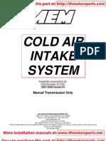 AEM Cold Air Intake 21-518 Installation Instructions