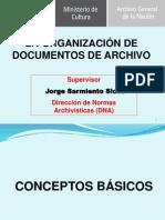 La Organizacion Del Archivo