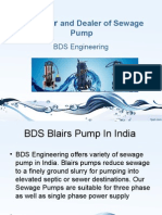 Sewage Pumps Supplier and Manufacturer India