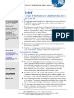 Legislative Brief Juvenile Justice Bill