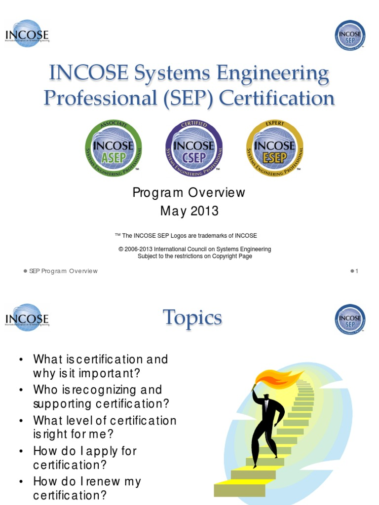 incose engineering systems certification professional