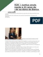 20150526 = BANCO SANTOS - Justiça anula condenação