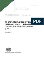 Clasificacion Industrial