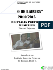 Cartel Clausura 14-15