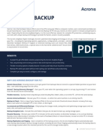 Acronis Backup for PC - Datasheet