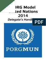 PORGMUN Delegate's Handbook 2014