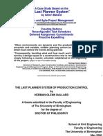 Case Last Planner System