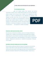 Metodologías Para Graficar Procesos en Una Empresa
