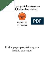 Reaksi Gugus Proteksi Senyawa Aldehid, Keton Dan