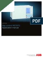 1MRK511190-UEN C en Application Manual Bay Control IED REC 670 1.1