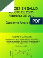 AVANCES EN SALUD GOBIERNO DE ÁLVARO URIBE