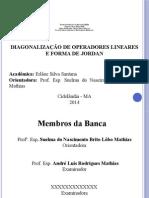 Diagonalização de Operadores Lineares e Forma de Jordan