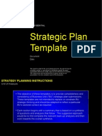Business Unit Strategy Plan Template
