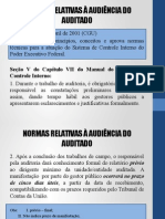 Normas Relativas à Audiência Do Auditado